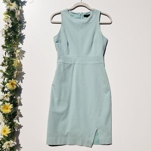 J.Crew Blue Sleeveless Side-slit Sheet Dress Mint